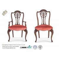 Buy cheap Antique Wooden Upholstery Fabric Hotel Dining Chairs High Standard Durable from wholesalers