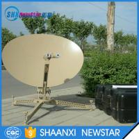 Buy cheap 75cm carbon fiber ka/ku band manual portable flyaway small satellite dish antenna from wholesalers