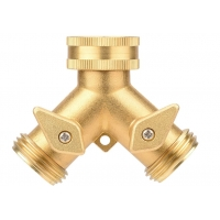 Buy cheap 3/4 In Brass Water Hose Y Valve , JIS 2 Way Hose Splitter from wholesalers