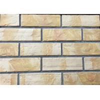 3D12-1 Interior Thin Lightweight Brick Veneer , Outdoor Artificial Brick Tiles For Walls