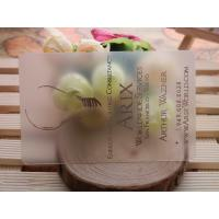 Buy cheap UV Printing Plastic Business Cards , Transparent PVC Custom Plastic Cards product