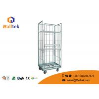 Buy cheap Square Storage Material Handling Trolley Wire Mesh Aluminium Alloy from wholesalers