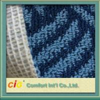 Buy cheap Custom 100% Polyester Jaquard Outdoor Carpet Fabrics Anti-fire and Anti Slip from wholesalers