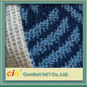 Buy cheap Custom 100% Polyester Jaquard Outdoor Carpet Fabrics Anti-fire and Anti Slip product