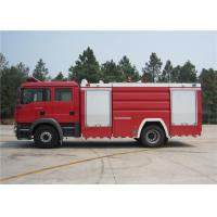 ISUZU Chassis Water Tanker Fire Truck Max Load 16000kg With Turbocharged Engine