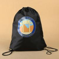 Buy cheap Custom recycled waterproof polyester draw string bag Factory sale OEM design 190T nylon bag advertising branding product from wholesalers