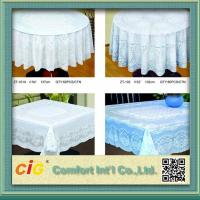 China Elegant Patterned Lace Round PVC Table Cloths  For Home , Hotel , Picnic or Restaurant on sale