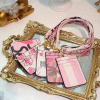 Buy cheap Victoria's Secret Business ID Badge Card Holder Credit Bank Card Neck Strap holders Bus ID purse with lanyard from wholesalers