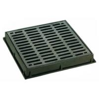 Buy cheap Dished Square Round Cast Iron Drain Grate Covers Cast Metal Driveway Drainage Grates from wholesalers