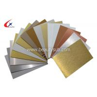 Buy cheap Sublimation Aluminum sheet from wholesalers