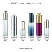 Buy cheap Aluminum Neck Clear Glass Bottles With Dropper Caps 3ml 5ml 8ml 10ml from wholesalers