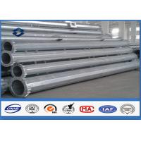 Galvanized tubular steel utility poles , Steel Q345  High Voltage high mast pole