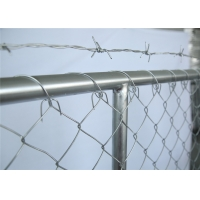 Buy cheap chain mesh temporary construction fence 8ft x 12ft  mesh 2-3/8 inch mesh opening x 11.5 gauge wire from wholesalers