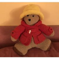 Buy cheap Unique! Plush Paddington Bear Stuffed Animal Handmade Knitted Crochet Teddy Doll from wholesalers