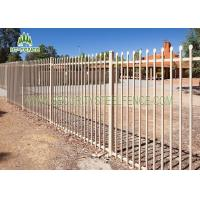 Buy cheap 2.1 × 2.4m Garrison Security Steel Fence Spear Top Black For Community / Gardens from wholesalers