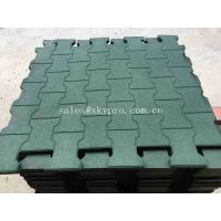 Buy cheap Driveway Rubber Patio Pavers / Anti - Slip Recycled Rubber Flooring Thickness 15-100mm product