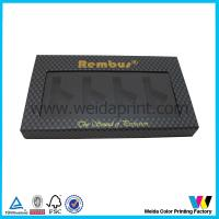 Buy cheap Black Color Paper Packaging Boxes with Clear Plastic Window and black foam from wholesalers
