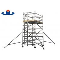 Buy cheap 0.3 KN Aluminium Scaffolding Frame System Mobile Light Platform Scaffold Tower product
