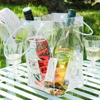 Buy cheap Anti-Freezing Clear Vinyl Champagne Cooler Ice Bag Perfect for Parties, and Restaurant from wholesalers