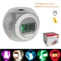 Buy cheap 2013 hot sale 7-Color Light with Nature Sound Alarm Clock with Thermometer product