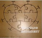 Buy cheap Jigsaw Puzzle Die: Heart-8pcs,  23.8mm Thick product