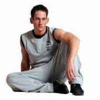 Buy cheap Men's Jogging Suit Made of Terry, 95% Cotton and 5% Spandex from wholesalers