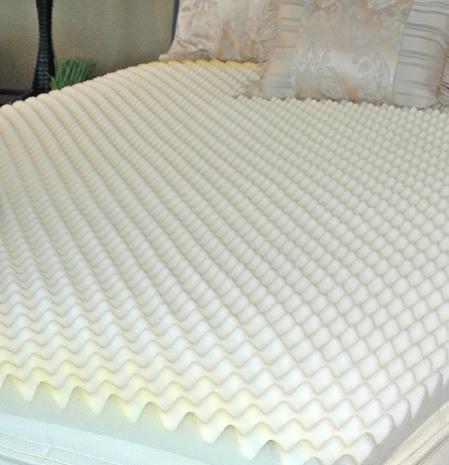 memory foam mattress topper visco elastic memory foam topper mattress topper convoluted 2. Black Bedroom Furniture Sets. Home Design Ideas