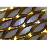 Buy cheap 3D Anodized Expanded Aluminium Mesh , Gold Flattened Expanded Metal Screen Mesh product