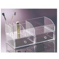 Buy cheap Perspex Cosmetic Display  , Acrylic Makeup Organizer With 2 Drawer product