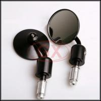Buy cheap Motorcycle CNC Aluminum Round Black Bar End Reaview Mirror Side Mirror from wholesalers