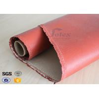 Buy cheap 1200 Degree Silicone Coated Glass Cloth , Heat Resistant Fabric Fiberglass from wholesalers