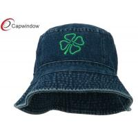 Buy cheap Denim Four Leaf Clover Embroidered Fisherman Bucket Hat for Adults / Unisex from wholesalers