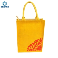 Buy cheap Custom Printed Recyclable Textile Jute Linen Grocery Bags from wholesalers