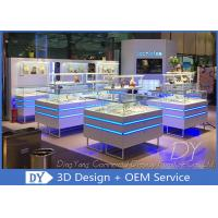 Buy cheap Modern Used Jewelry Display Cases / Jewelry Show Cases With Led Lights from wholesalers