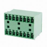 Buy cheap Pluggable Terminal Block with 3.5, 3.81mm Pitch, 300V Rated Voltage and 8A Current from wholesalers