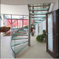 Buy cheap High Quality Helical Glass Stairs Spiral Staircase with Frameless Glass Handrail from wholesalers