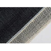 Buy cheap 19oz 100% Cotton Stretch Denim Fabric Blue Selvedge Continues Dyeing Technics from wholesalers