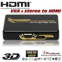 Buy cheap VGA to HDMI Converter with Upscaler PETVHS from wholesalers