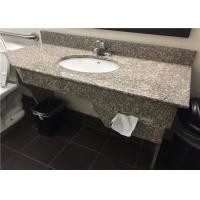 """G664 Bainbrook Brown Granite Vanity Tops 49"""" With Apron And Tissue Hole"""