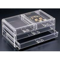 Buy cheap Non-toxicity Clear Acrylic Storage Boxes , Acrylic Organic Makeup Storage Organizer product