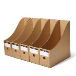 Buy cheap Kraft Paper File Box Paper Packaging Box OEM Logo Printing CMYK Display from wholesalers