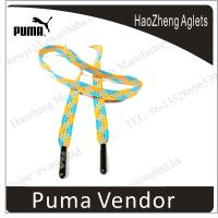 Buy cheap Customized  copper shinny silver metal tip (aglet) shoe tips from wholesalers