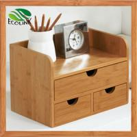 Buy cheap China New Designer Bamboo Desk Organizer with Drawers for Office from wholesalers
