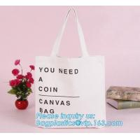 Buy cheap Promotional Ecological Handled Style Canvas Cotton Tote Bags For School Books,Eco white cotton canvas cotton rope handle from wholesalers