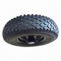 Buy cheap 4.10-6 tubeless pneumatic rubber wheel for wheel barrow from wholesalers