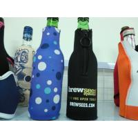Buy cheap Reach ROHS approved neoprene drink bottle sleeve / bottle cover  with zipper product