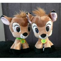 Buy cheap Brown 8 inch Disney Plush Toys Bambi Big Head Cartoon Stuffed Animals Customized from wholesalers