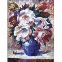 Buy cheap Glass Mosaic Design with Hand-cut Flower Art Picture, Interior Decoration, Sized 600 x 800mm from wholesalers