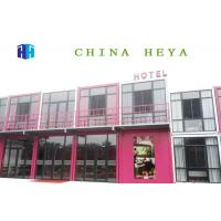 Buy cheap Durable Double Storey Prefab House Modular Container Hotel Rooms 25 Years Life Span from wholesalers