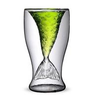 Buy cheap Mermaid Tail Glass Cup 100ml Double Glass Coffee Cups 155mm Height from wholesalers